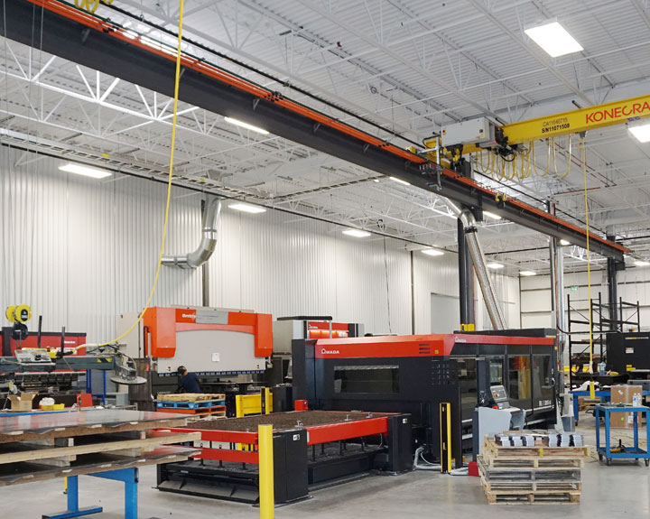 Shop Fabrication Area Overview